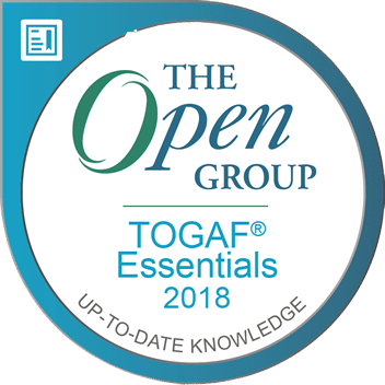 TOGAF Essentials 2018 digital Badge